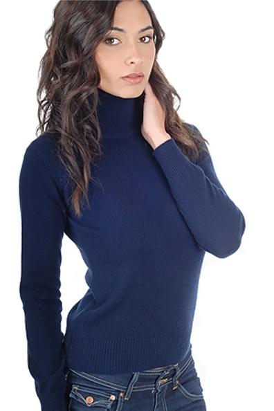 d2f5c47dc696 Pull col roule bleu ciel femme veste en laine