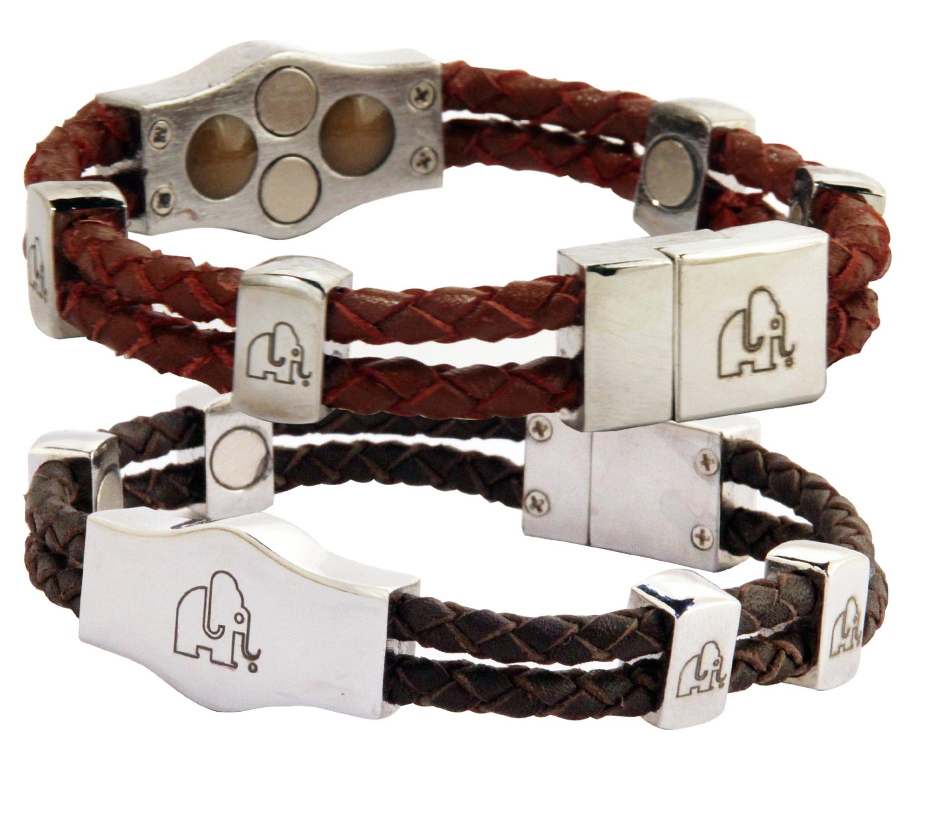 leather magnetic and ionic bracelet peter fleming. Black Bedroom Furniture Sets. Home Design Ideas