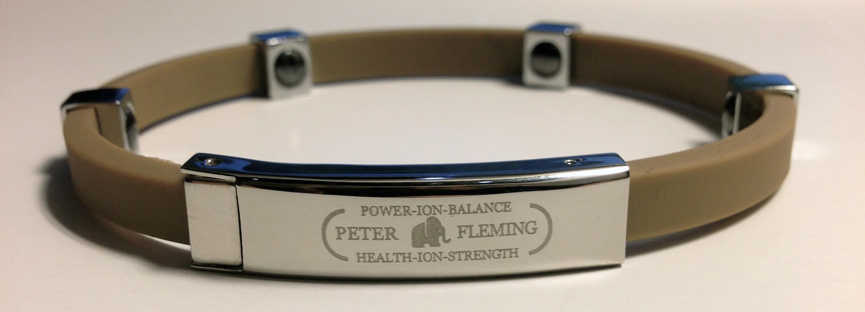 Peter Fleming Bracelet magn/étique et ionique Titane et Or